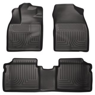 Black Front/2nd Seat Floor Liners - Weatherbeater Series for Toyota Prius Plug-In