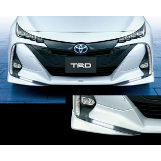 TRD Prius Front Spoiler with LED for ZVW52 Toyota Prius 2016 - 2021
