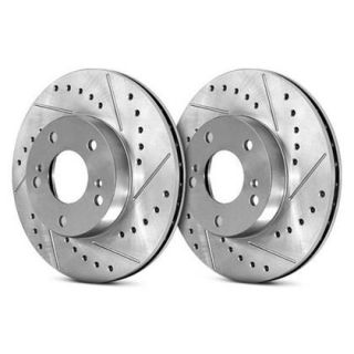StopTech Select Sport Drilled and Slotted Brake Rotor For Toyota Prius C (Left)