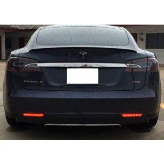 Smoked Lens 24-SMD LED Bumper Reflector Lights For 12-up Tesla Model S