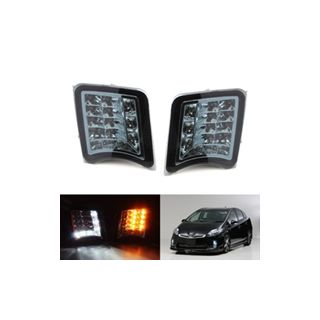 2010-2011 Toyota Prius Smoked or Clear Lens Direct Fit LED Daytime Running Lights/Turn Signal Lamps