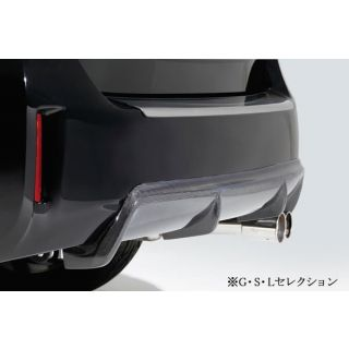Rear diffuser (Carbon Fiber) for Toyota Prius V