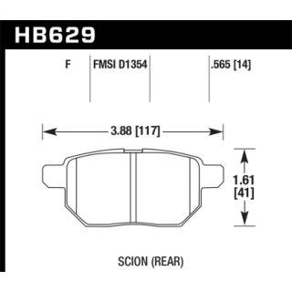Toyota Prius 2010 - 2015 Hawk Performance Disc Brake Pad Rear