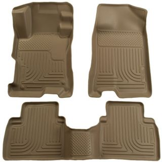 Weatherbeater Series Tan Front/2nd Seat Floor Liners for Toyota Prius Touring / Base 2004 -2009
