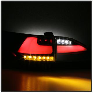 Black Smoke LED Tube Tail Lights+Trunk Lamps for 2011-2013 Lexus CT200h