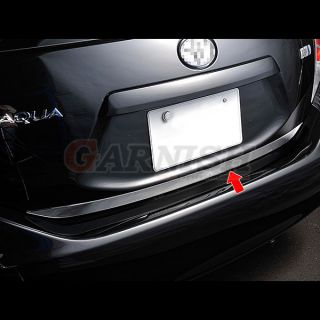 Rear gate trim back door garnish stainless steel Toyota AQUA / Prius C