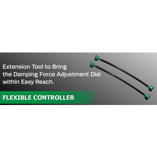 Tein Extension cable, attached to the damping force adjustment dial, enables easier adjustment where an access to the dial is difficult due to vehicle structure etc.