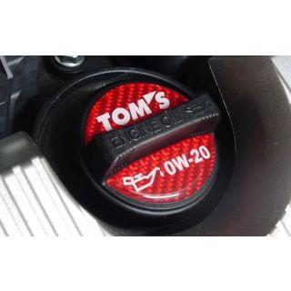 TOM'S Racing- Oil Filler Cap Garnish Sticker